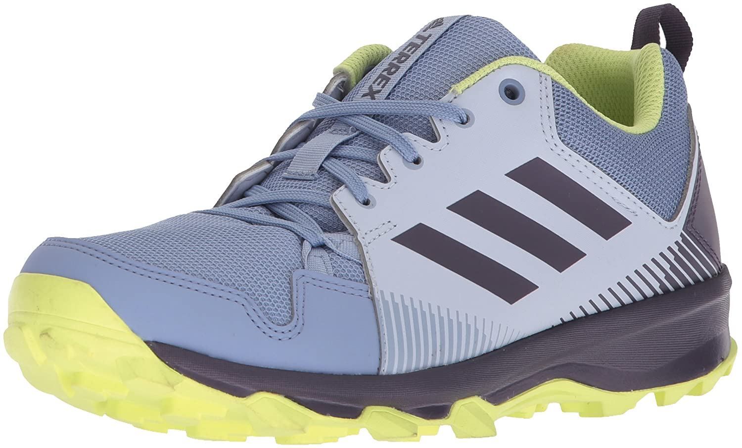 adidas outdoor Women's Terrex Tracerocker W Trail Running Shoe B072YR833W 5.5 B(M) US|Aero Blue/Trace Purple/Semi Frozen Yellow