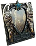 """""""Angel Heart"""" with Blue Star and Scrolled Border Picture Frame, 4x6"""", Hand-crafted, Hand-painted Heirloom Quality."""