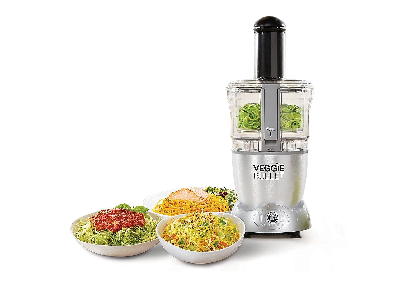 Nutribullet - Veggie Bullet - spiraliseur eléctrica Copa, rallador hacha verduras frutas - Robot de cocina verduras espiral tecnología brevetée - Calentador ...