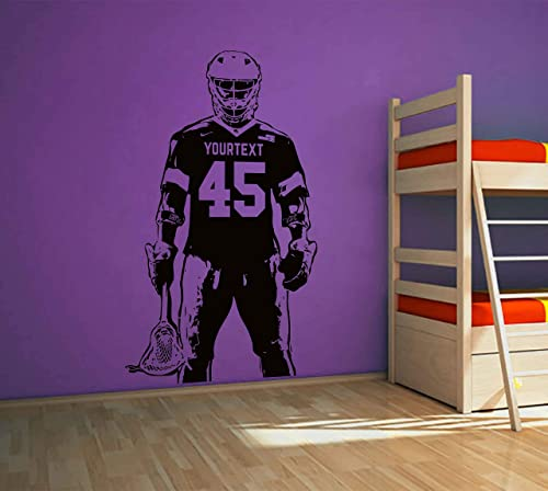 lacrosse wall decals for boys room personalized wall decal lacrosse wall decor lacrosse wall art boy name wall decals personalized name name decal stickers ik3811