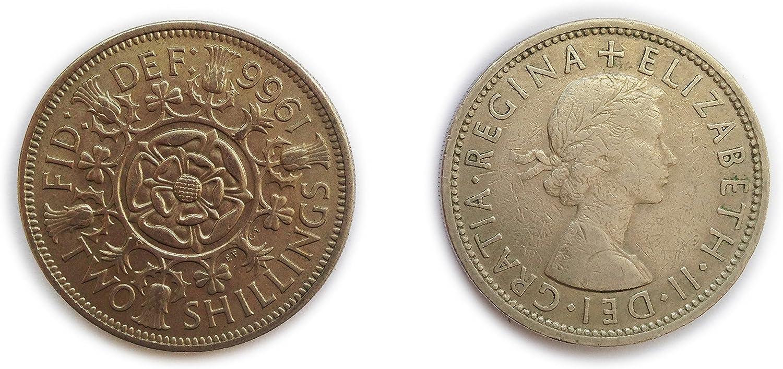 1957 2//- Silver TWO Shilling Florin TWO BOB Q Elizabeth II very Nice