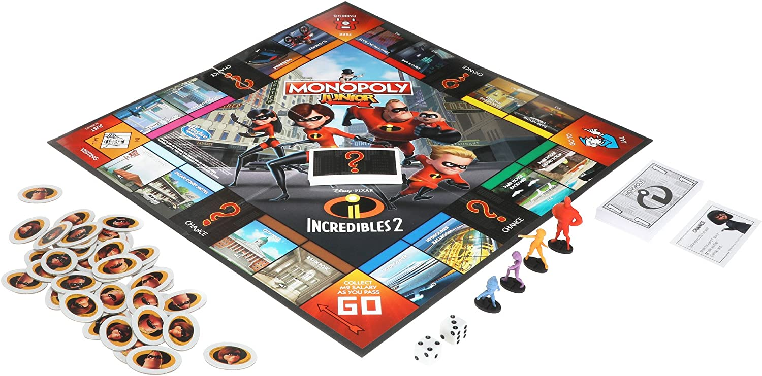 Hasbro Monopoly Junior Game: Disney/Pixar Incredibles 2 Edition: Amazon.es: Juguetes y juegos