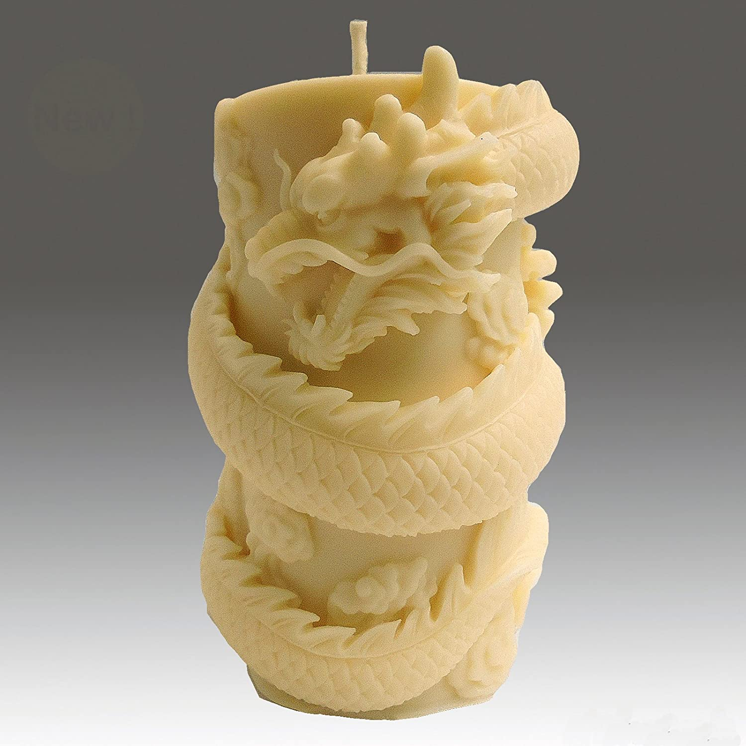 egbhouse, Natural Beeswax Stone Dragon Pillar Candle Golden Bright Co. Ltd. CNDLDRAGONPILLAR01