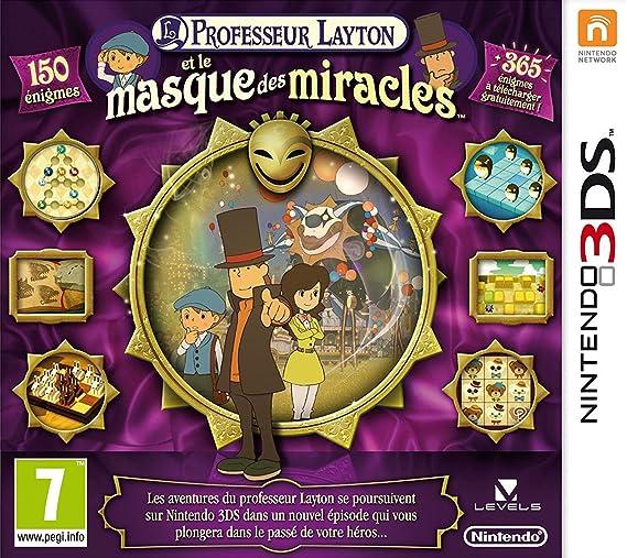 sélectionner pour officiel en présentant design de qualité Professeur Layton et le masque des miracles   3DS - Version ...