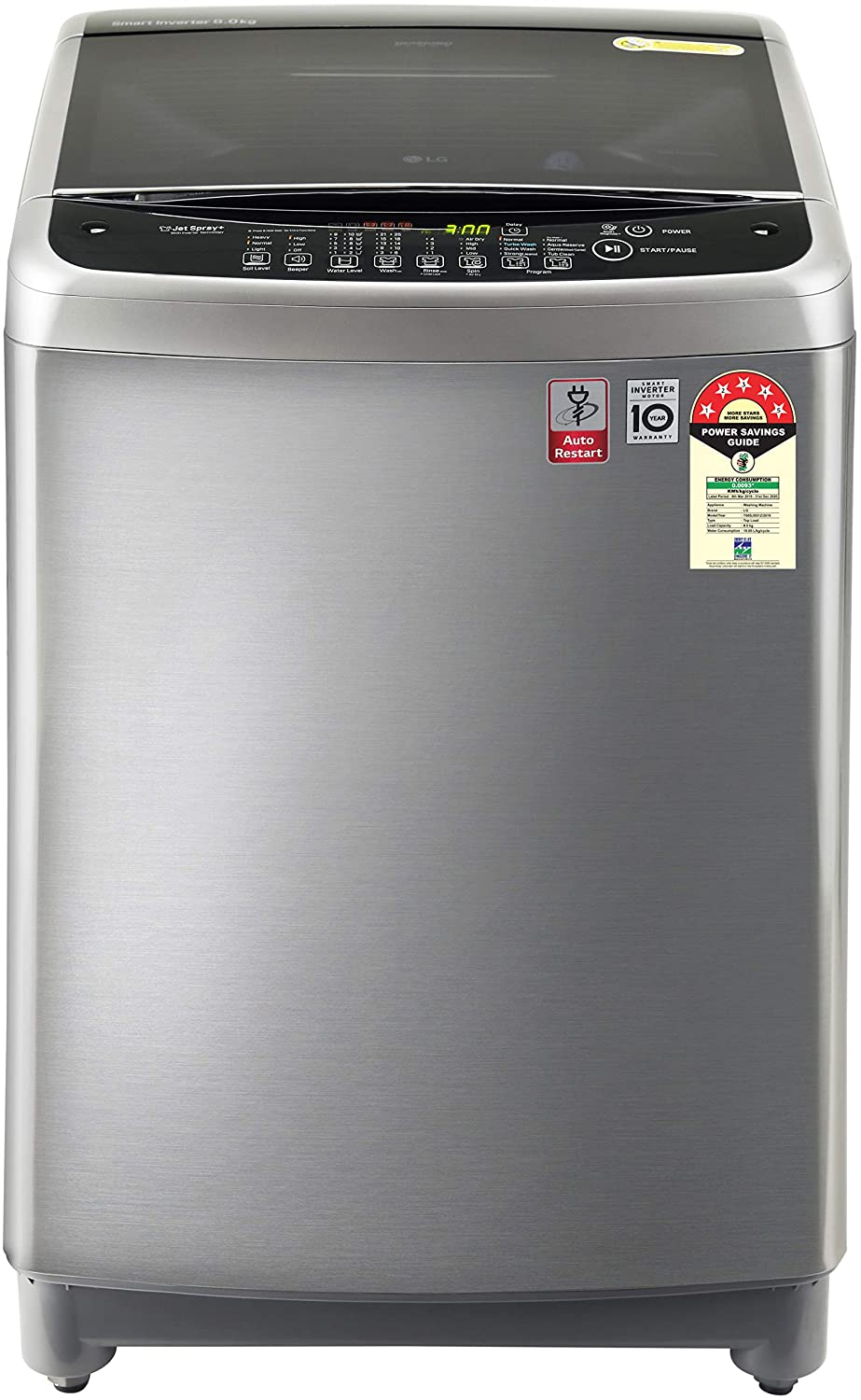 LG 8.0 Kg 5 Star Smart Inverter Fully-Automatic Top Loading Washing Machine