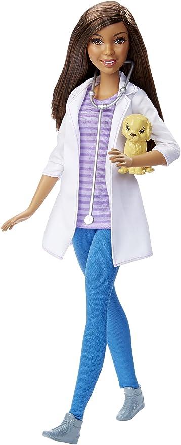 Barbie- Bambola Dottoressa Pediatra con Bambolotto per Bambini da 3+ Anni FPR44 Camice e Accessori