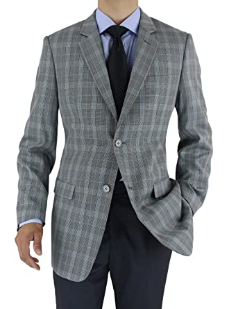 d400111be57 Marzzotti Rossi Modern Fit Men's Suit Jacket Two Button Sport Blazer at  Amazon Men's Clothing store: