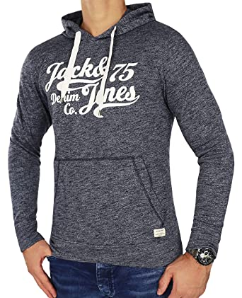 JACK   JONES Herren Sweatjacke Jcochevron Sweat Zip Hoodie Regular Fit (S,  Blau ( fd8e6f7880