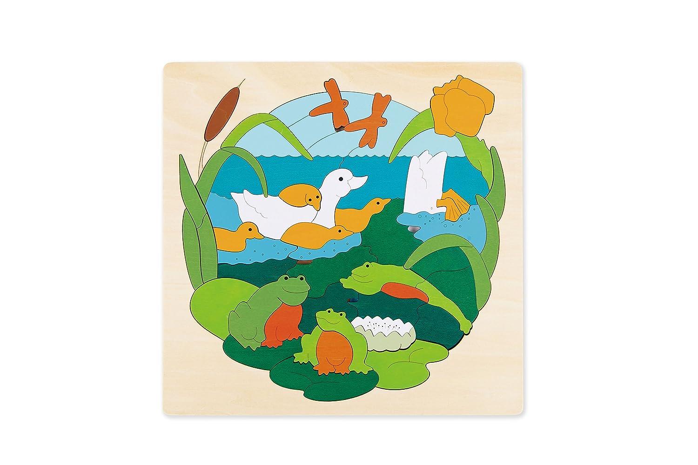 Hape - E6523 - George Luck - Puzzle - la Mare aux Canards - 95 pièces