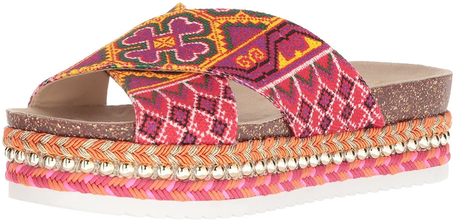 Jessica Simpson Women's Shanny Slide Sandal B078JXF9ZF 10 B(M) US|Red/Multi