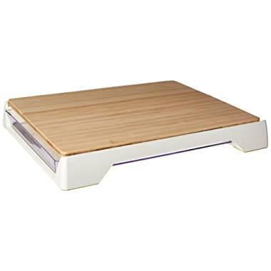 Tomorrow's Kitchen  Bamboo Cutting Board with Sliding Tray