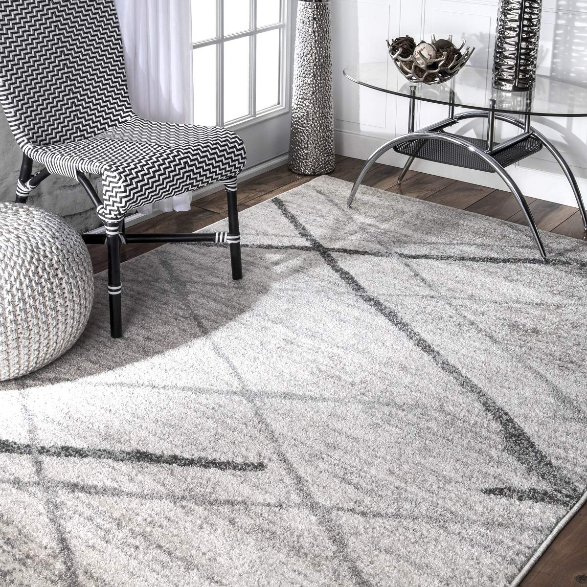 nuLOOM Thigpen Contemporary Area Rug, 5 x 8 , Grey, Gray