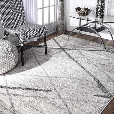 nuLOOM BDSM04A Thigpen Contemporary Area Rug, 5' x 8', Grey, Gray