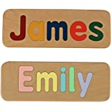 Name Puzzle - Raised Letters - Handmade Wooden Custom Personalized - First Birthday Gift - Educational Toy