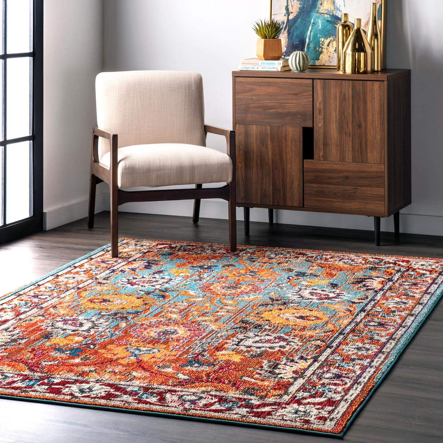 nuLOOM Mallory Floral Area Rug