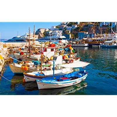 BeneCharm 500 Piece Colorful Boats in The Bay of Southern Italy Puzzle Game Toy Gifts Educational Intellectual Decompressing Fun Game for Kids Adults: Toys & Games