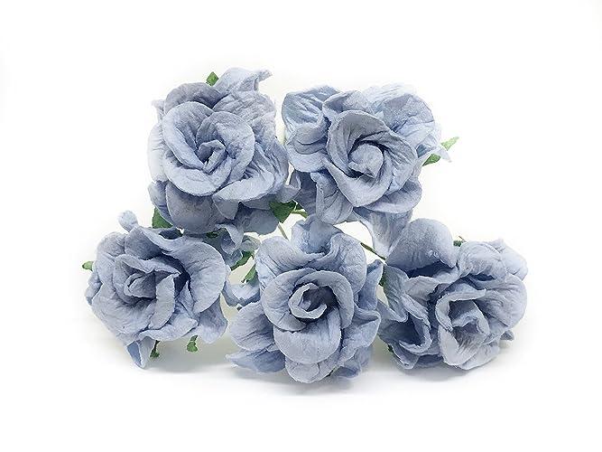 Amazon 35cm blue mulberry paper flowers blue wedding diy 35cm blue mulberry paper flowers blue wedding diy wedding decor diy paper bouquet artificial flowers mightylinksfo