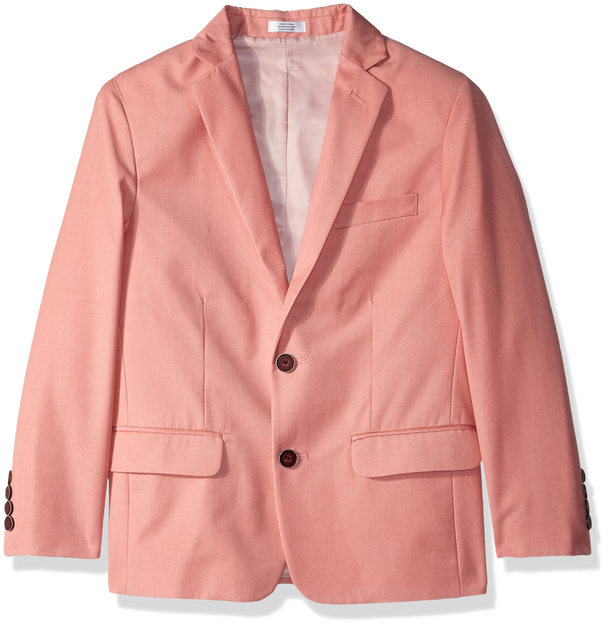 Calvin Klein Big Boys' Linen Blazer Jacket, Blushing, 16