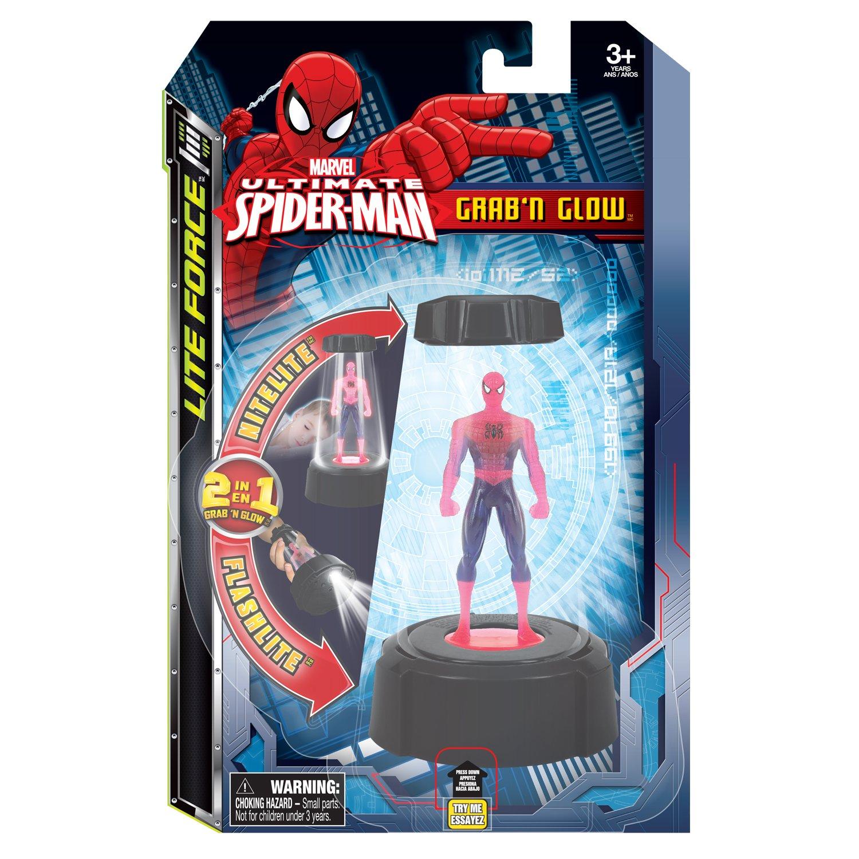 amazon com tech 4 kids spiderman grab n glow toys u0026 games