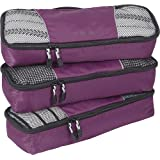eBags Packing Cubes Packtaschen: 3-teiliges Packwürfel-Set Slim (Aubergine)