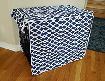 Small, Medium, Large, XL, XXL 528zone Modern Blue Marine Dog Pet Wire Kennel Crate Cage House Cover