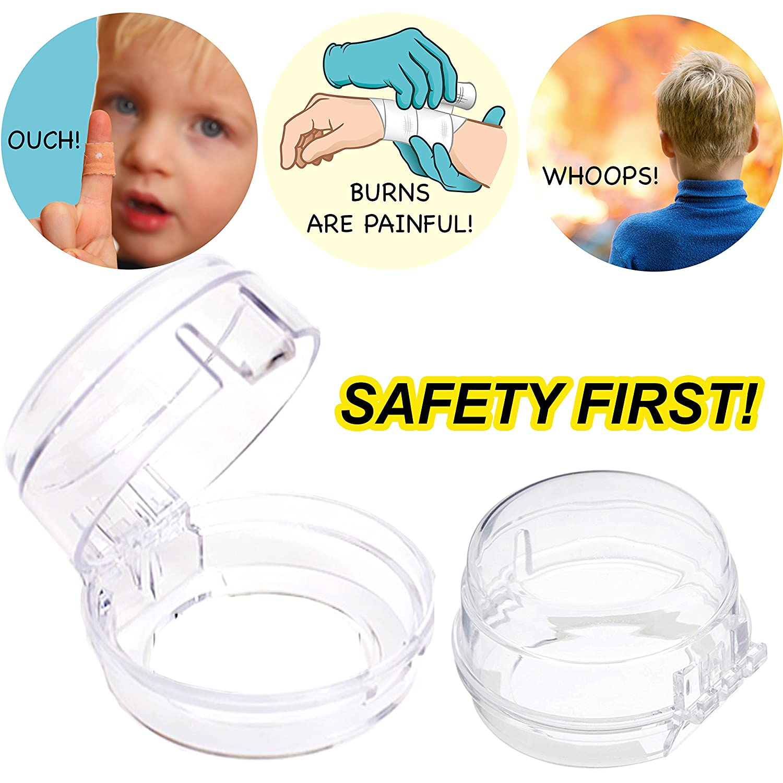 Cuisini/ère Set /à 4 pi/èces Clippasafe Bouton Protection De De Four Micro-Onde S/écurit/é Enfant B/éb/é Installation Facile