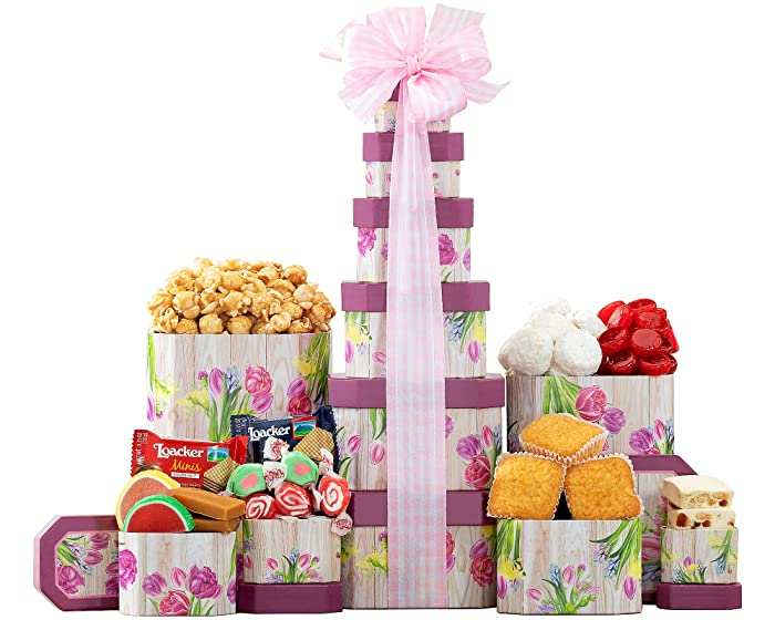 Gift Tower- The Sweet Celebration Gift Tower by Wine Country Gift Baskets
