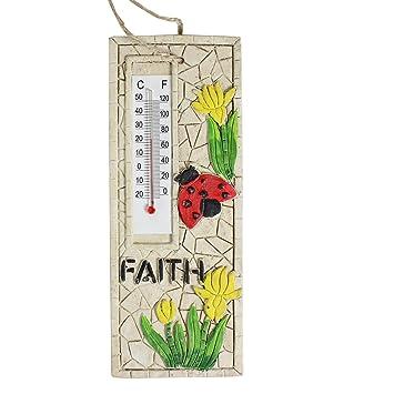 17 Cm Deko Stein Garten Thermometer Zum Aufhängen U2013 Faith Design