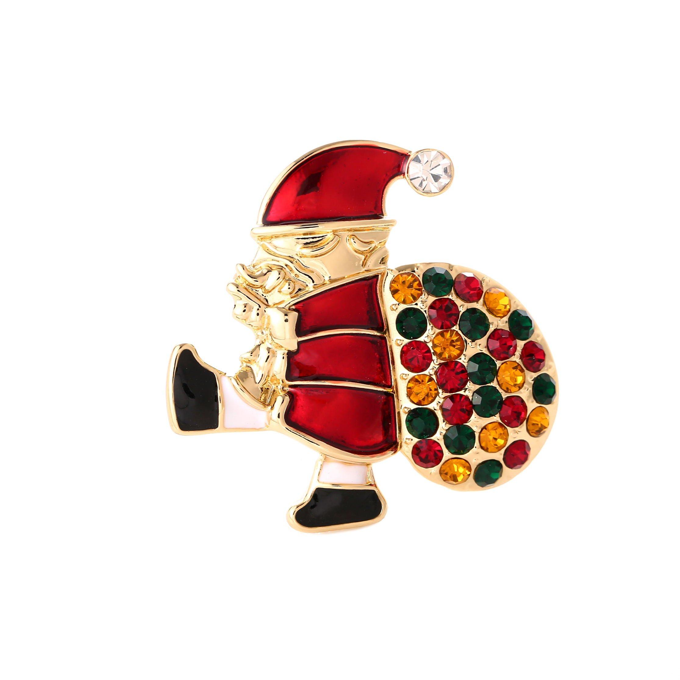 YSD Christmas Brooch Pins set Holiday Brooch Xmas Pin Lot Party Favor set christmas tree pins set by YSD (Image #4)
