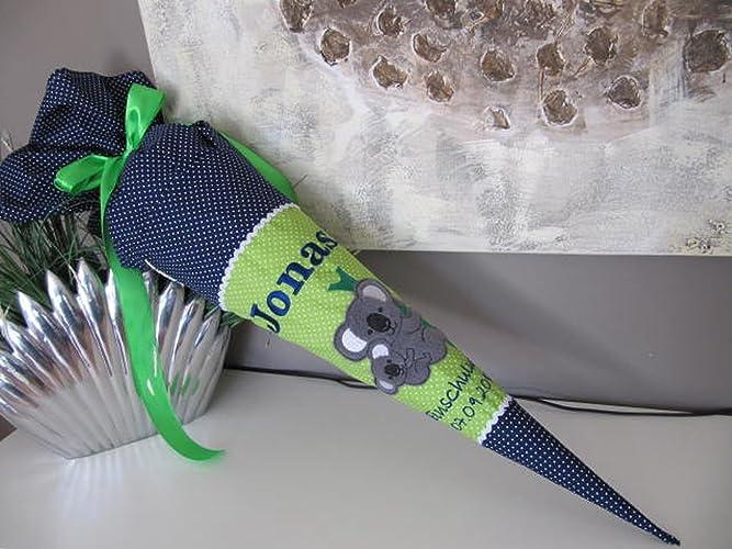 72 Koala Koalabär grün-blau Schultüte Stoff + Papprohling + als ...