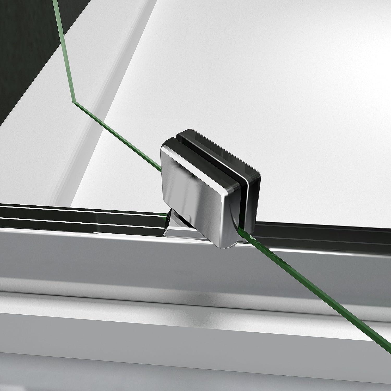 Porte de douche 90x70x185 cm porte pivotante cabine de douche verre securit