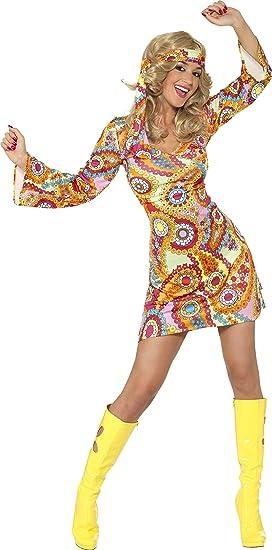 1bd199547 Smiffy's (34060M) - Disfraz de hippie años 60s para mujer, talla M (40-42)