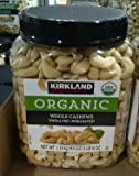 Kirkland Signatures Organic Whole Cashews Unsalted Unroasted - 2 Lb 8 Oz (1 Pack)