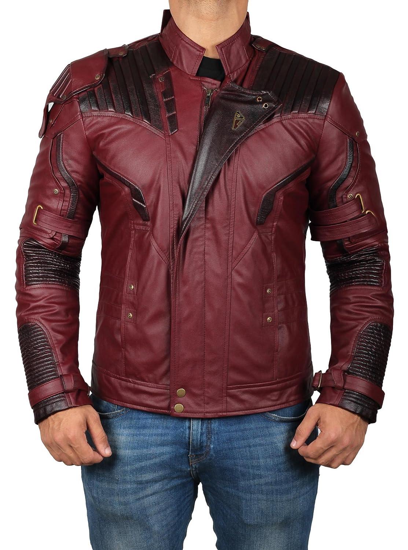 Decrum OUTERWEAR メンズ B075Y5DGMY M|Maroon - Star Lord Jacket Maroon - Star Lord Jacket M