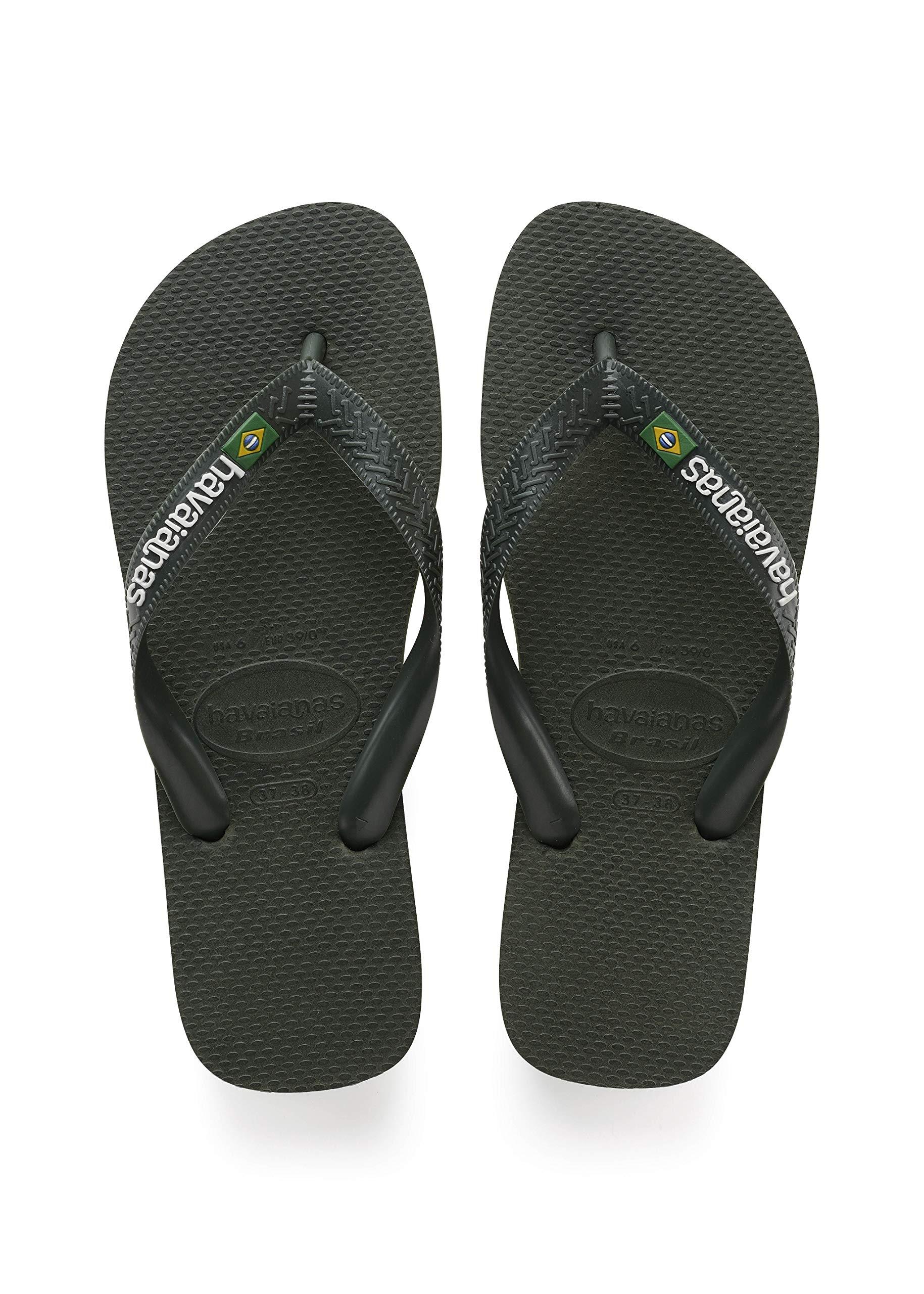 54c9f20da Galleon - Havaianas Unisex Adults  Brasil Logo Flip Flops