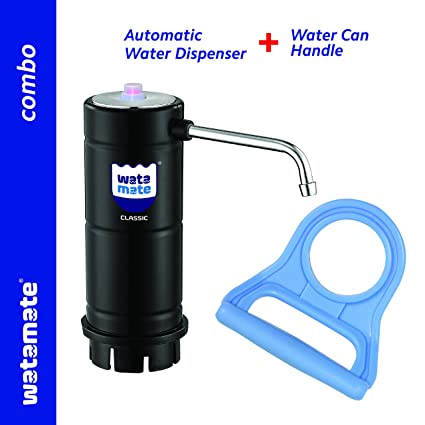 Watamate Classic & EzyGo Handle Combo   Electric Water can Dispenser with Easy Push Button & Food Grade Silicon Tube