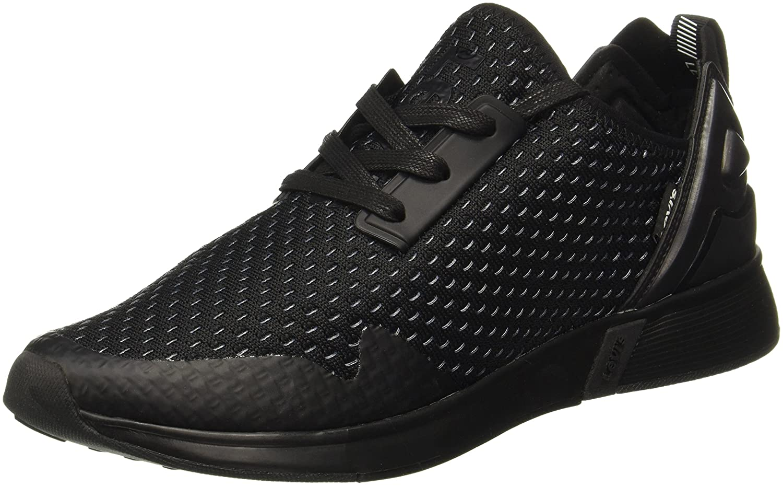 Black Tab Runner Sneakers at Amazon