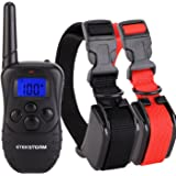EtekStorm Rechargeable Electronic Dog Training Collar (2017 New Design) Waterproof,800 Yards Range Remote with Vibration, Shock and Beep Electronic Collar for Puppy,Small,Medium and Large Dog