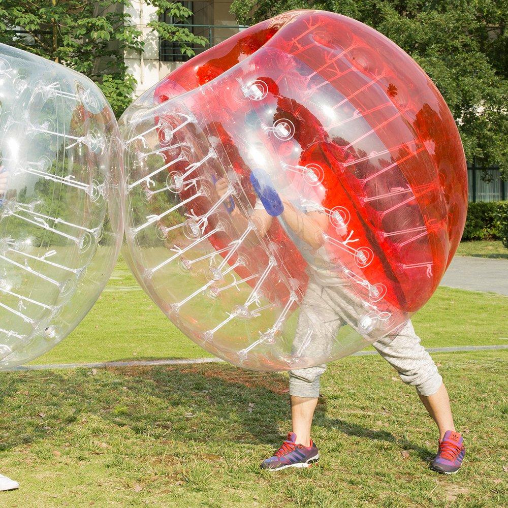 HolleywebバブルSoccer Balls Suit Dia 4 /5 ft (1.2 /1.5 M) バブルボールサッカーのスーツは、大人と子供 B078PF9KH8 1.5M|Half Red Half Red 1.5M