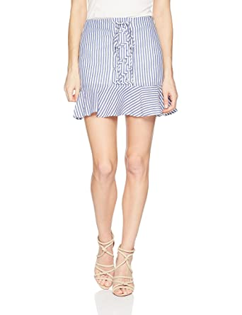 J.O.A. Women s Lace Up Front Mini Skirt at Amazon Women s Clothing store  fb3267603