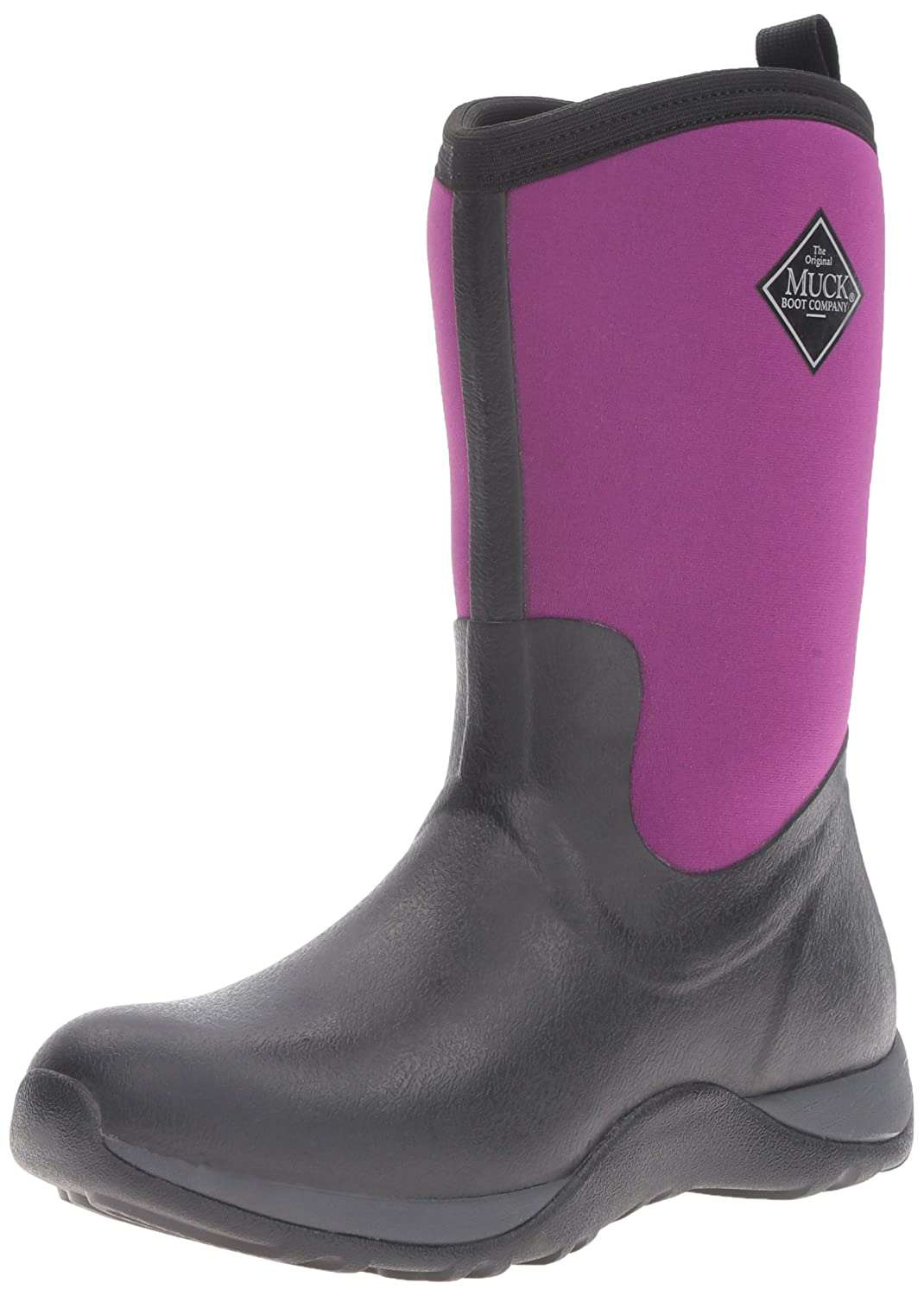 Muck Boot Women's Arctic Weekend Mid Snow B01LXV3RTZ 7 B(M) US|Black/Phlox Purple