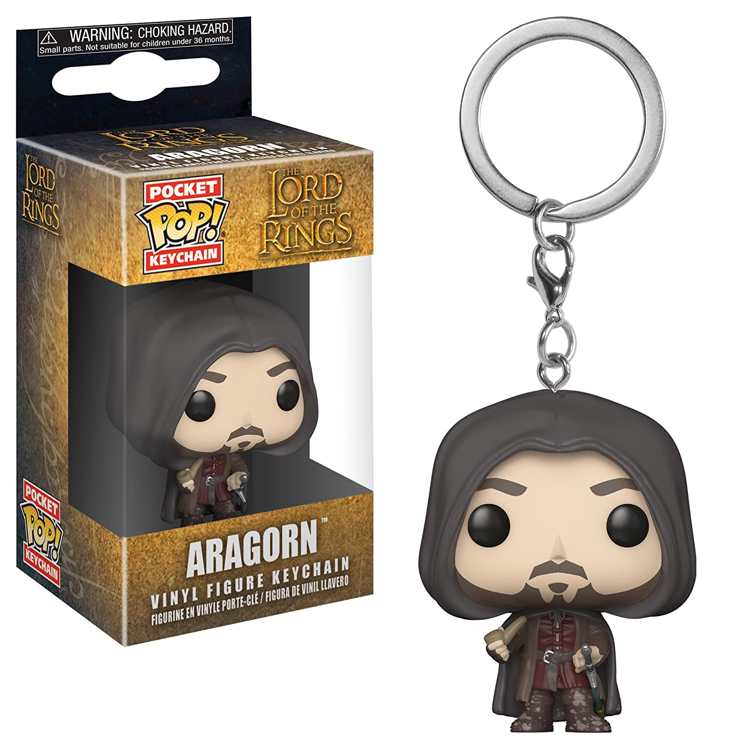 Funko Pop Keychain: Lord of The Rings - Aragorn Collectible Figure, Multicolor