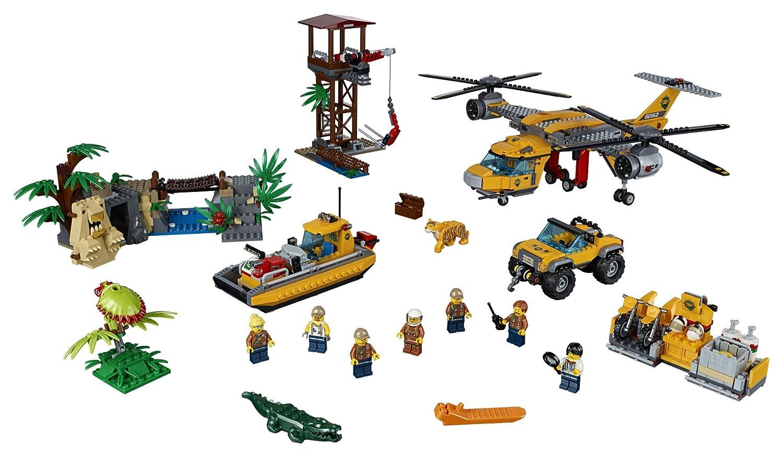 Lego City Jungle Explorers Air Drop Helicopter 60162 1250 Spy Jet Escape 8638 Piece Multi Lovely