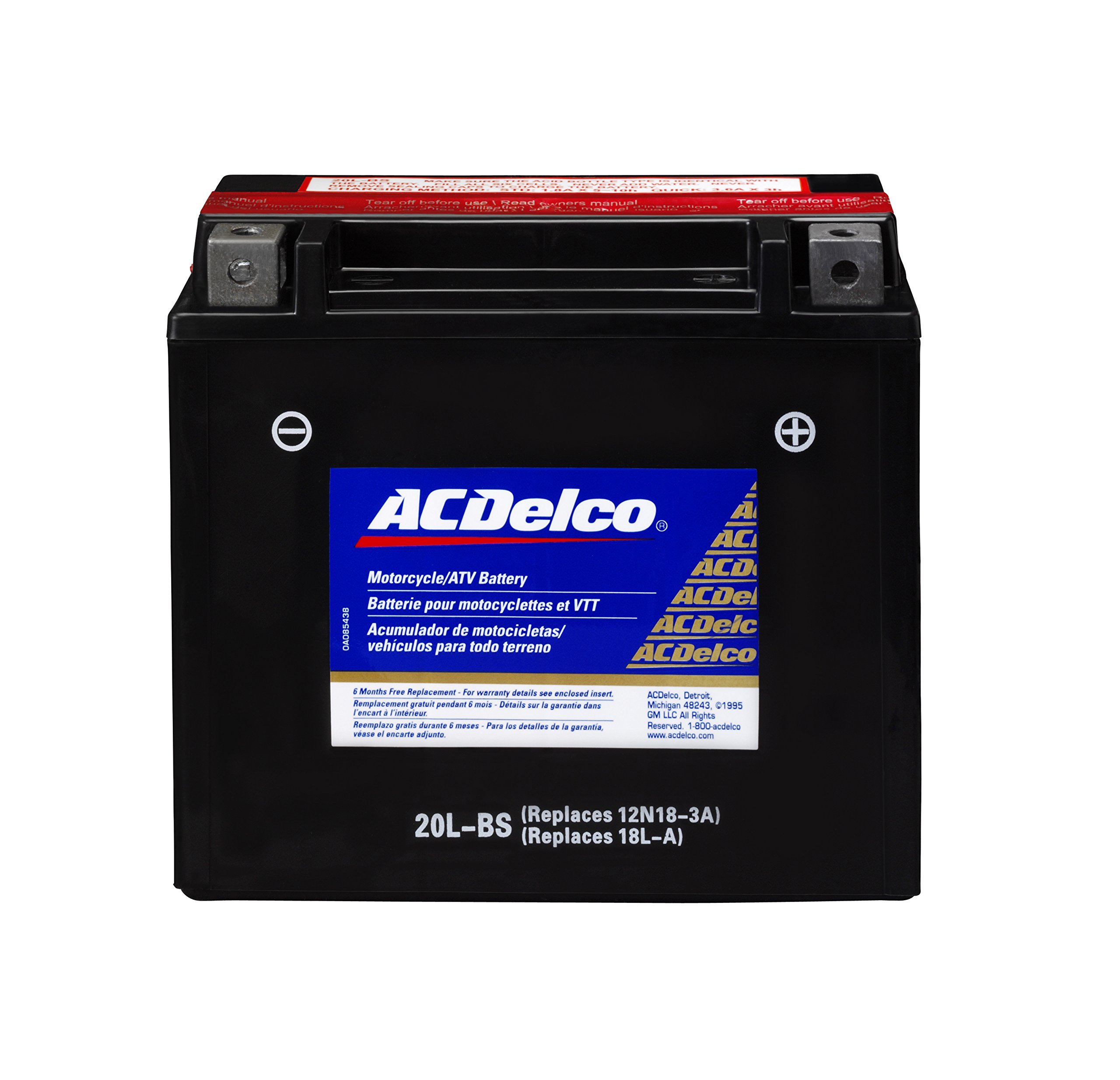 ACDelco ATX20LBS Specialty AGM Powersports JIS 20L-BS Battery by ACDelco (Image #1)