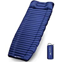 """IFORREST Sleeping Pad with Armrest & Pillow - Rollover Protection - 4"""" Extra Thick Camping and Hiking Mats - Ultra…"""