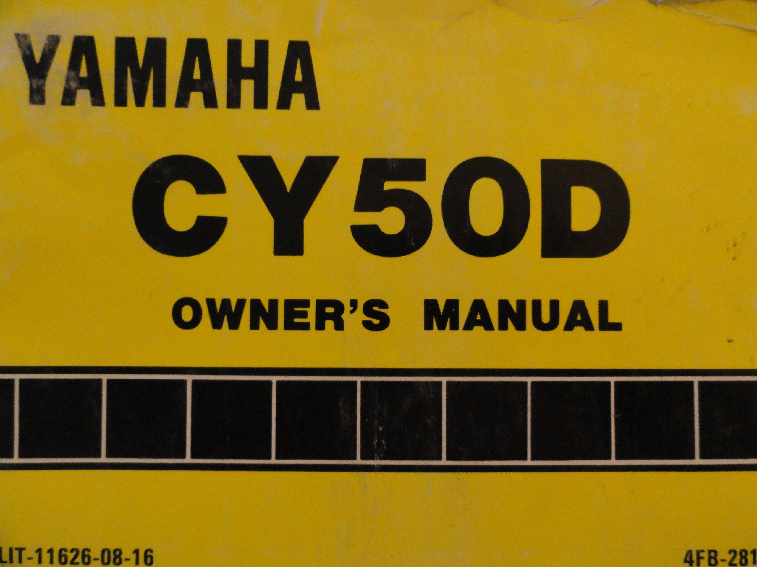 cy50 a wiring diagram 1991 1992 yamaha cy50 owners manual cy 50 d yamaha amazon com books  1991 1992 yamaha cy50 owners manual cy