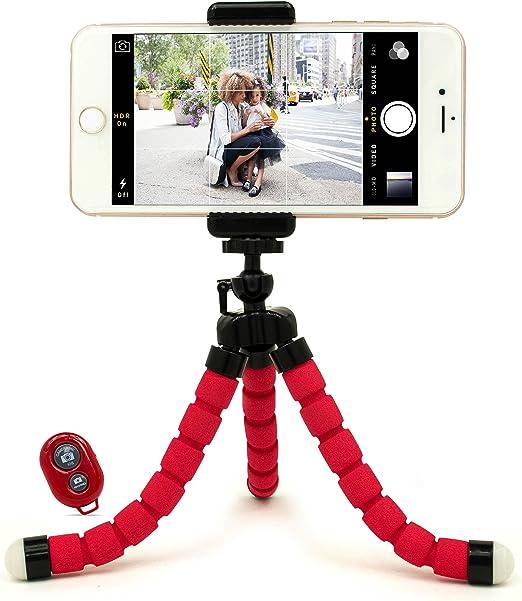 Bastex - Soporte universal compacto y flexible para trípode con adaptador para smartphone, cámara digital, GoPro Hero todas las versiones, incluye mando a distancia: Amazon.es: Electrónica