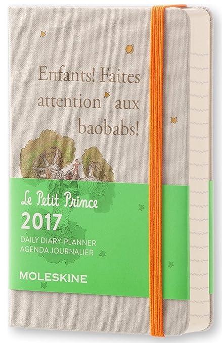 Moleskine DPP12DC2Y17 - Agenda semanal 18 meses, diseño El Principito, edición limitada, pocket 9 x 14
