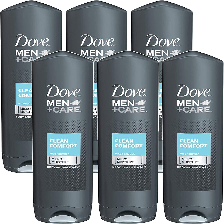 Amazon Com Dove Men Care Clean Comfort Mild Formula Micro Moisture Body And Face Wash 18 Fl Oz Pack Of 6 Beauty