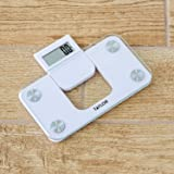 Taylor Digital 350LB Capacity Mini Scale/Expandable Read Out/White/Glass